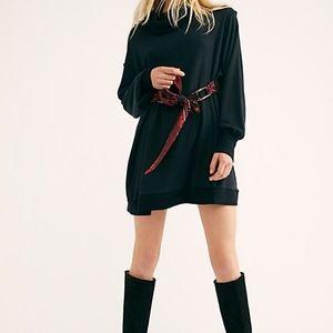 NWT Free People Stay All Night Black Mini Dress Sm